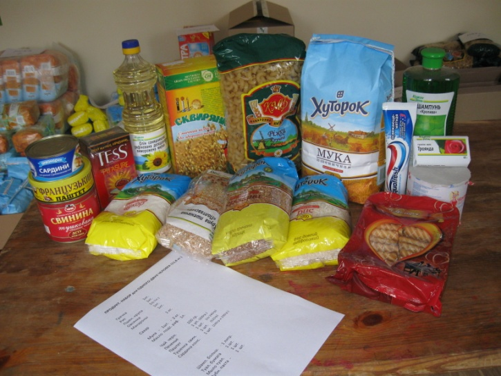 Набор продуктов для беженцев